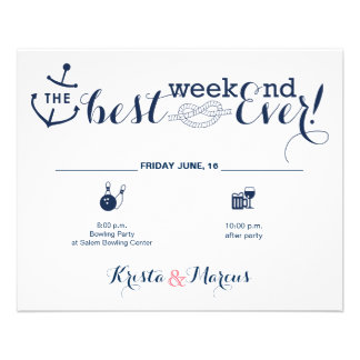 Nautical Wedding Weekend Itinerary 2 Full Colour Flyer