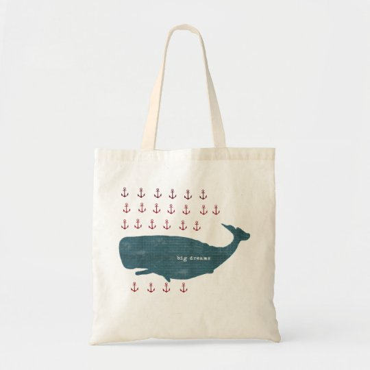 Nautical Whale Anchors Preppy Tote