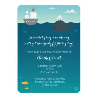 Nautical Whale Baby Shower Invitation