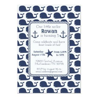 Nautical Whale Birthday Card