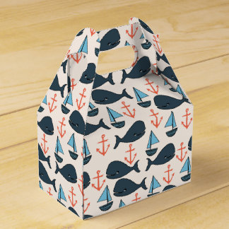 Nautical Whale Boat Anchor Blue / Andrea Lauren Favor Boxes