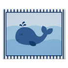 Nautical Whale Nursery Wall Print