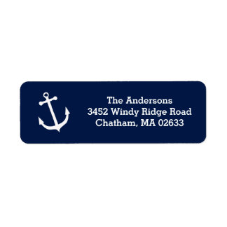 Nautical White Anchor Beach House Simple Classic