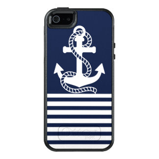 Nautical White Blue Anchor OtterBox iPhone SE/5/5s OtterBox iPhone 5/5s/SE Case