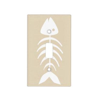 Nautical White Fish Bones Light Switch Cover