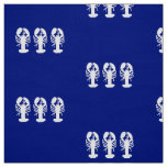 Nautical White Lobsters Fabric