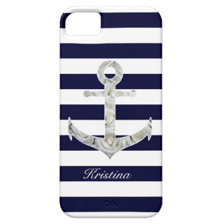 Nautical white rose anchor case for the iPhone 5