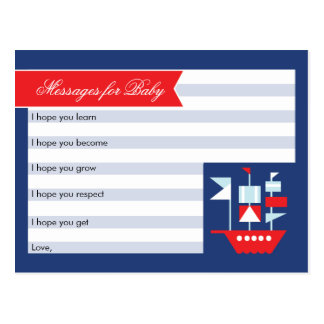Nautical Wishes For Baby Card Postcard