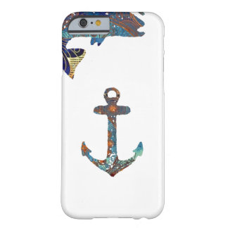 Nautical With Fish & Anchor Barely There iPhone 6 Case