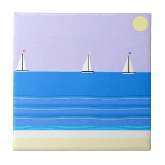 nautical yacht race #2 abstract tile art