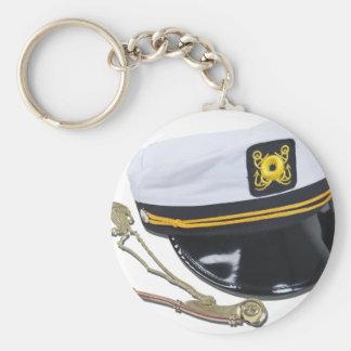 NauticalHatWhistle112010 Basic Round Button Keychain
