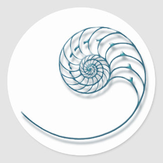 Nautilus 2 classic round sticker