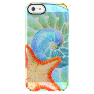 Nautilus And Starfish Clear iPhone SE/5/5s Case