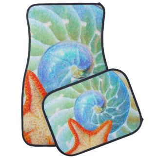 Nautilus And Starfish Floor Mat