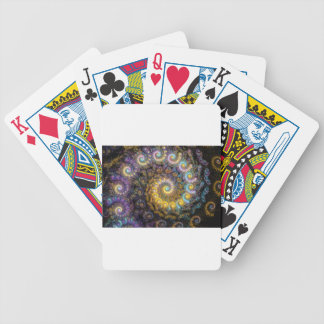 Nautilus fractal beauty bicycle playing cards