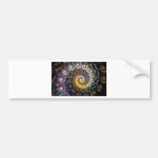Nautilus fractal beauty bumper sticker
