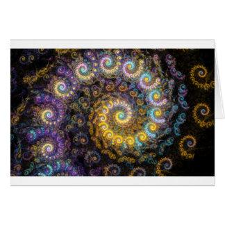 Nautilus fractal beauty card