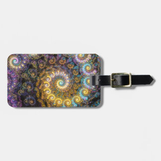 Nautilus fractal beauty luggage tag