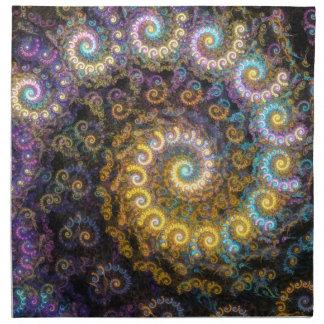 Nautilus fractal beauty napkin