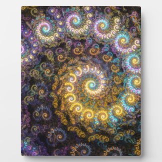 Nautilus fractal beauty plaque