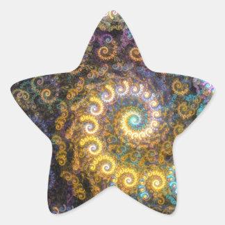 Nautilus fractal beauty star sticker