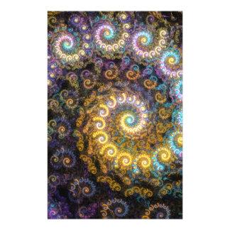 Nautilus fractal beauty stationery
