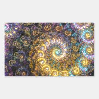 Nautilus fractal beauty sticker