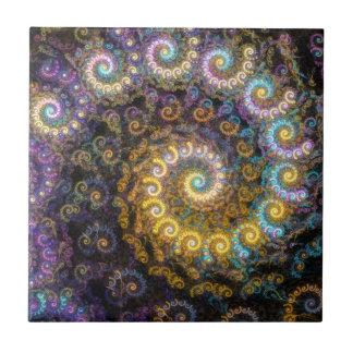 Nautilus fractal beauty tile