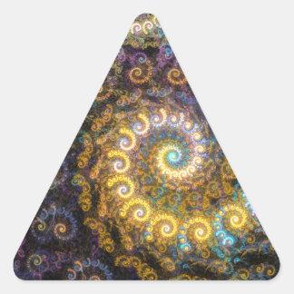 Nautilus fractal beauty triangle sticker