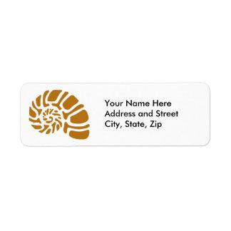 Nautilus graphic return address label