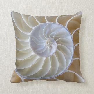 Nautilus Sea Shell Custom Color Throw Pillow