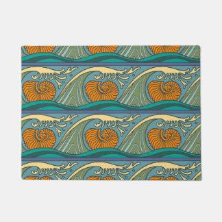 Nautilus Seashell Pattern Nouveau Doormat