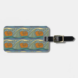 Nautilus Seashell Pattern Nouveau Luggage Tag