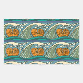 Nautilus Seashell Pattern Nouveau Sticker