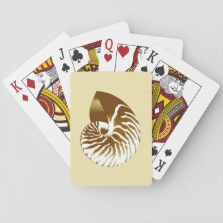 Nautilus shell - brown, white and beige playing cards