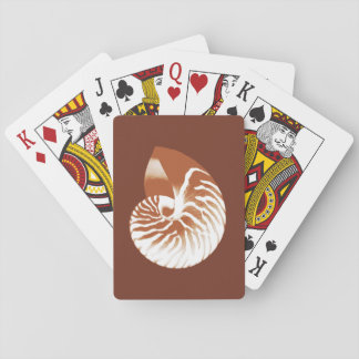 Nautilus shell - cocoa brown and white poker deck