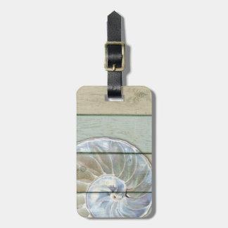 Nautilus Shell Luggage Tag