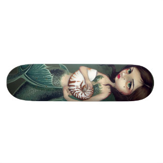 Nautilus Shell Mermaid Skateboard