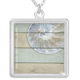 Nautilus Shell Silver Plated Necklace