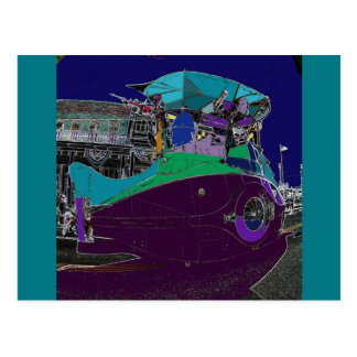 Nautilus Submarine Art Car Postcard