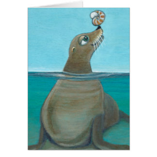 """Nautilus"" The Sea Lion Card"