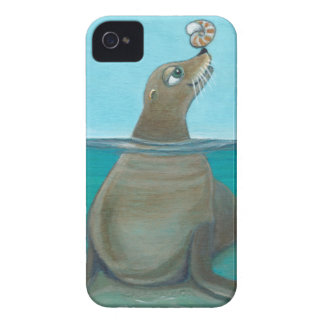 """Nautilus"" The Sea Lion Case-Mate iPhone 4 Cases"