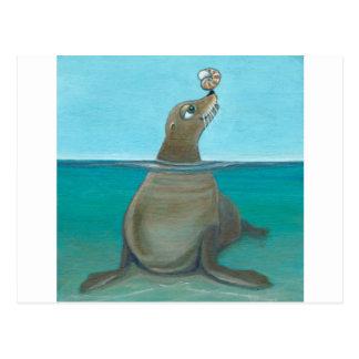 """""""Nautilus"""" The Sea Lion Postcard"""