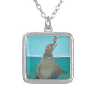 """Nautilus"" The Sea Lion Silver Plated Necklace"