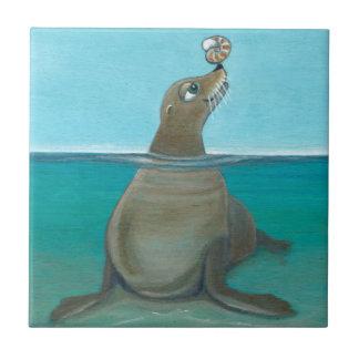 """""""Nautilus"""" The Sea Lion Tile"""