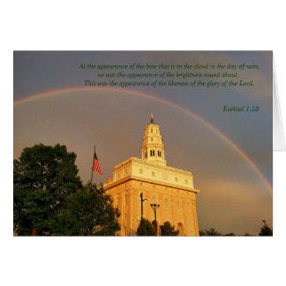Nauvoo Illinois Temple Embraced By a Rainbow Card