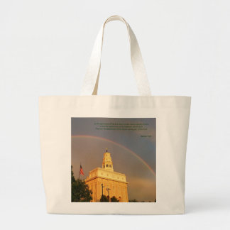 Nauvoo Illinois Temple Embraced By a Rainbow Large Tote Bag