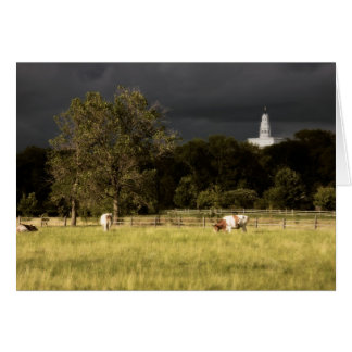 Nauvoo Temple With Oxen Card