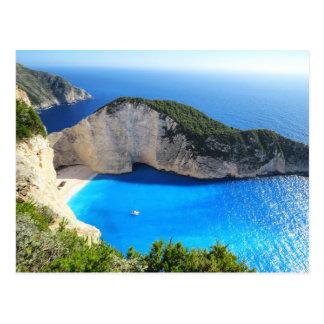 Navagio Beach, Zakynthos, Greece Postcard