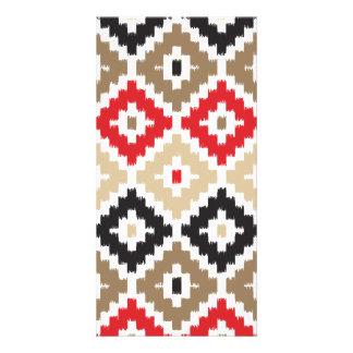 Navajo Aztec Tribal Print Ikat Diamond Pattern Picture Card